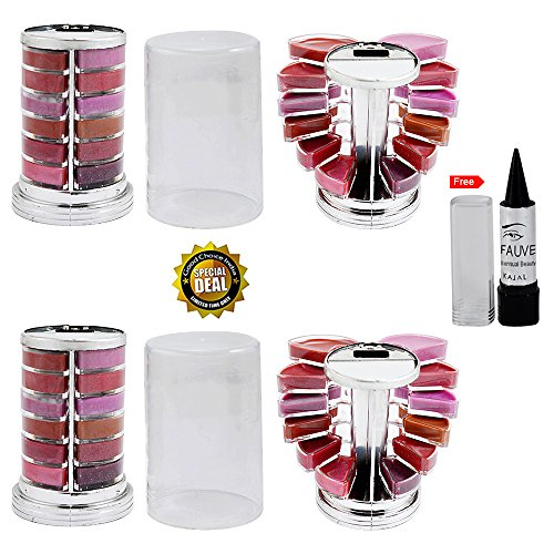 Adbeni Ladyhood Extra Look 12 Colour Lip Gloss Lipstick With Kajal