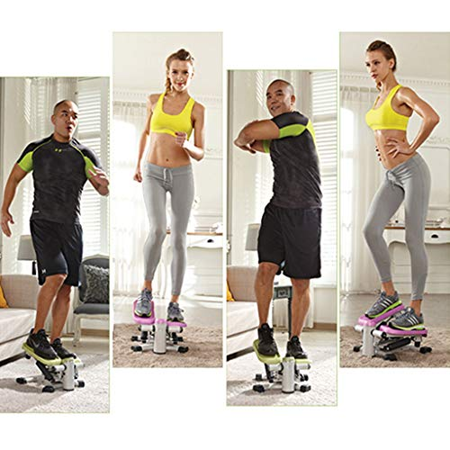 Stepper Exercise Machines Mute multi-function weight loss fitness equipment home hydraulic (Color : Green, Size : 35 * 23.5 * 40cm)