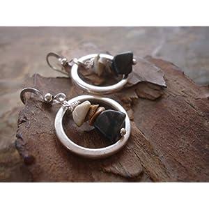 ♥ NATURSTEINE IM RING ♥ Ohrringe mit Steinen