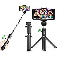 Selfie Stick,Bluetooth Selfie Stick Stativ Selfie-Stange Stabmit Bluetooth-Fernauslöse für iPhone X / 8/ 7 plus Samsung Galaxy 3.5-6 Zoll Bildschirm- 3 in 1 Erweiterbar Mini Pocket Wireless Selfie Stick 360° Rotation