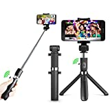 Selfie Stick,Selfie Stick Stativ mit Bluetooth -Fernauslöser für iPhone X / 8/7 Plus Android Samsung Galaxy 3.5-6 Zoll Bildschirm- 3 in 1 Erweiterbar Mini Pocket Wireless Selfie Stick 360° Rotation