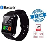 Supreno Advanced U8 Touchscreen Bluetooth Smartwatch With Sim Card Support, Anti Theft Alarm, Remote Camera, Calling And Notification Support Compatible With Xiaomi Mi, Apple IPhone & IPad, Samsung, Sony, Lenovo, Oppo, Vivo And All Smartphones (1 Year