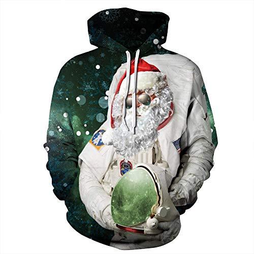 ostüm europäischen und amerikanischen Cosplay Santa Claus 3D Digital Printing Herbst Paar Kleid Sportjacke groß-siz E-Schrank ()