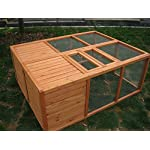 BUNNY BUSINESS Fully Folding Sheltered Rabbit Run Hutch, 48-inch 10