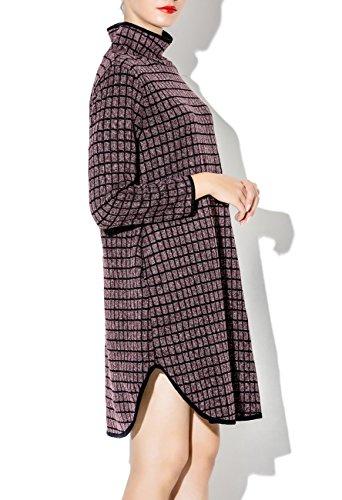 ELLAZHU Femme Automne Hiver Ourlet Irrégulier Avec Fentes Robe SZ359 A purple