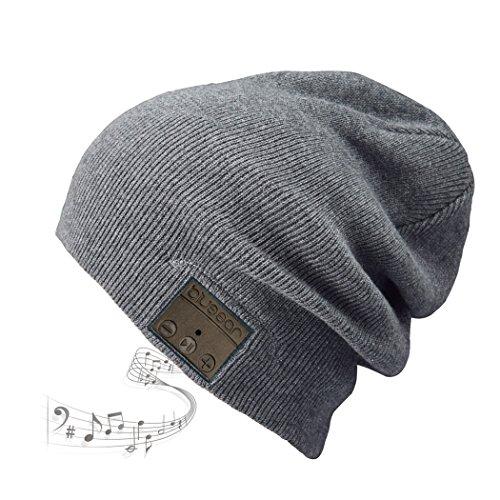 Bass Baumwolle Hut (Bluetooth Beanie Mütze BLUEEAR Waschbare Freizeit Bluetooth Baggy Hats Kopfhörer mit akustischem Stereolautsprecher und Freisprecher-Telefonbeantwortung und bis zu 8 Stunden Wiedergabezeit)