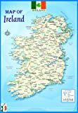 laminated MAP OF IRELAND POLITICAL poster | educational poster wall chart