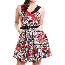 Batman Mujer Mini vestido–Harley Quinn Sain Verano mini vestido sin mangas