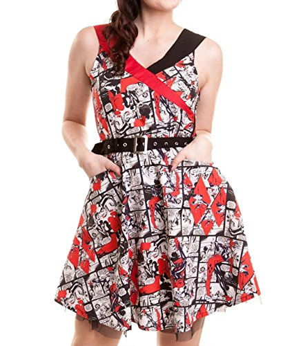 Batman -  Vestito  - linea ad a - Donna Multicolore