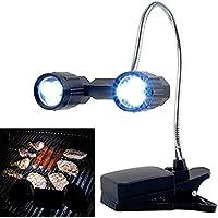 owikar LED barbacoa parrilla luz, 360° rotación ajustable al aire libre iluminación de la lámpara, CLIP de la abrazadera de barbacoa libro luz pesca lectura lámpara de mesa