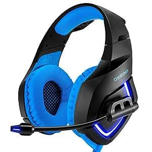 Auricolare PS4 Gaming Xbox One Stereo Isolamento rumore Basso PC Gaming Cuffie con microfono per PS4, Xbox One, computer portatili, tablet, telefono cellulare (con Mic Led Omnidirezionali Mic)