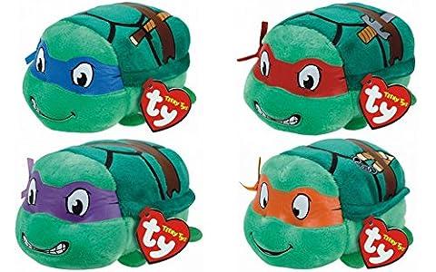 Teeny Ty 'Adolescent mutin ninja tortue' - Leonardo, Raphaël, Donatello et Michel-Ange