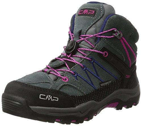 CMP Rigel Mid Wp Unisex-Kinder Trekking-& Wanderschuhe, Grau (Grey-Hot Pink), 35 EU