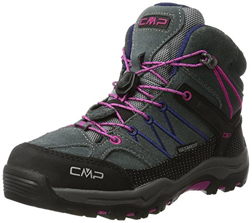 CMP Unisex Rigel Mid Wp Trekking-& Wanderstiefel , Grau (Grey-Hot Pink 96bd) , 36 EU