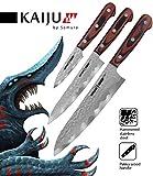 Samura KAIJU Professionnel Japonais Couteaux de cuisine. Dureté 59 HRC (Set)