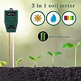 Mustbe Strong Tester Luminoso della pianta del Tester, 3 in 1 Tester del Terreno del Terreno PH Tester dell'umidità del Terreno per Il Giardino dell'azienda agricola Prato Interno ed Esterno