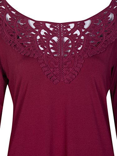 Blooming Jelly Damen Bluse Rot