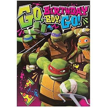 Personalised Teenage Mutant Ninja Turtles Birthday Card Amazonco