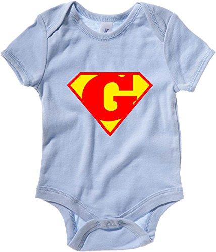 T-Shirtshock - Body neonato T0657 G SUPERMAN fun cool geek, Taglia 3-6mesi