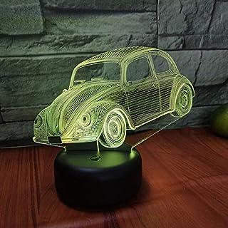 Kreative bunte Note des Auto-L ED3D-Nachtlichtes, die visuelles Stereo-Geschenklicht auflädt