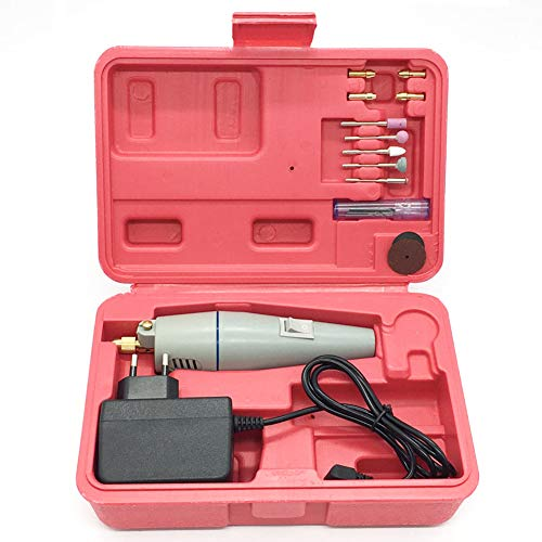 TOOGOO Mini Elektrische Bohr Maschine 15 Stücke Schleifen Zubeh?r + Adapter Multifunktions Gravier Maschine Elektro Werkzeuge Kit Eu Stecker