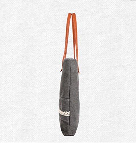 Handtaschen-Einkaufstasche Art Und Weise Beiläufige Handtaschen-Segeltuch-Schulter-Beutel-großer Beutel White