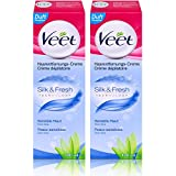 2x Veet Haarentfernungs-Creme Silk & Fresh Sensible Haut 100ml