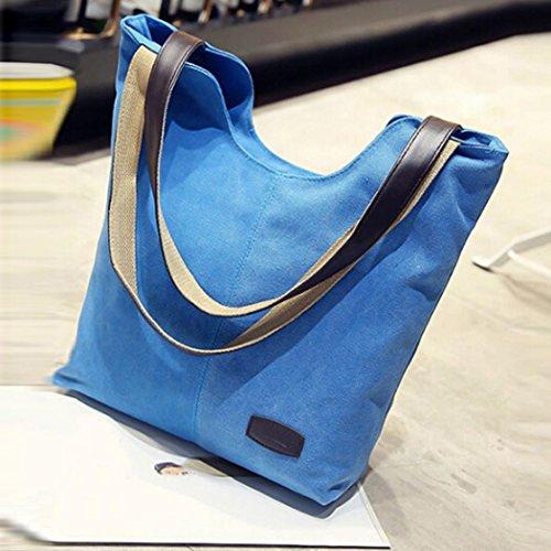 20724b2c0e0de ... TUDUZ Frauen Shopper Handtaschen Schultertaschen Handtasche Canvas  Umhängetasche Große Crossbody Tasche Bucket Bag Dunkelblau ...