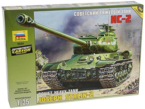 Zvezda 500783524 - modellino carro armato pesante sovietico seconda guerra mondiale j.s-2, scala 1:35