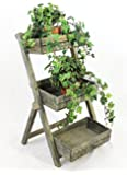 Scala per fiori 12068 in legno 60cm Supporto-fiori Scala per piante Scaffale per fiori Scaffale