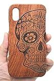 Holzsammlung Coque iPhone XS Max en Bois Véritable - Crâne de Bois de Rose -...