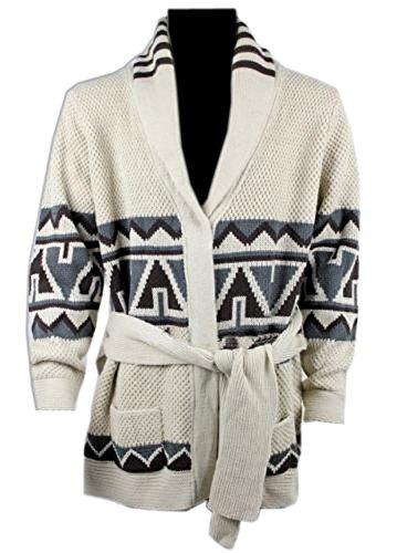 MyPartyShirt David Starsky Cardigan Sweater-Adult Medium (Starsky Et Hutch Kostüm)
