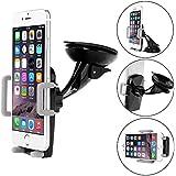 Support Voiture iPhone 6 6S, Bingsale support auto voiture pour smartphone et GPS (grille d'aération / pare-brise / tableau de bord, tête rotative 360 degrés)