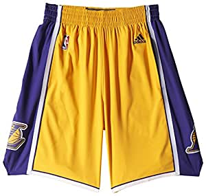 adidas NBA Swingman Los Angeles Lakers Short Homme Jaune FR : L (Taille Fabricant : L)
