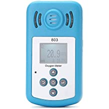 KKmoon - Detector de O2,detector de oxígeno, medidor de concentración de O2, con pantalla LCD y alarma de sonido y luz