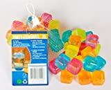 240 Party Eiswürfel aus Kunststoff mit Wasserfüllung wiederverwendbar 5 Farben Cocktail Würfel Form
