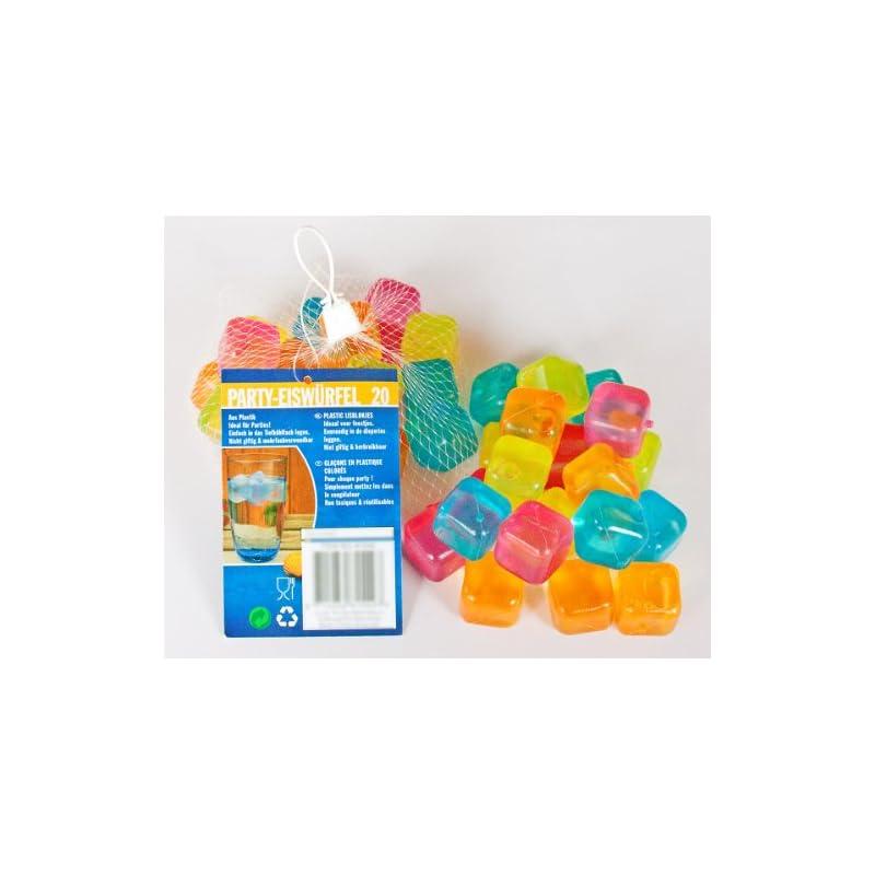 240 Party Eiswrfel Aus Kunststoff Mit Wasserfllung Wiederverwendbar 5 Farben