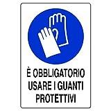Cartelli prescrizione Pubblicentro - alluminio - 30x20 cm - usare i guanti - 01803900ALB0300X0200