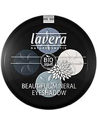lavera Lidschatten Beautiful Mineral Eyeshadow Quattro ∙ Farbe Blue Platinum blau ∙ farbbrilliant & langanhaltend ∙ Natural & innovative Make up ✔ vegan ✔ Bio Pflanzenwirkstoffe ✔ Naturkosmetik ✔ Augen Kosmetik 1er Pack (1 x 3 g)
