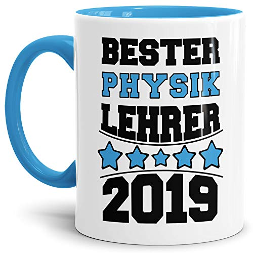 Lehrer/Schule/Abi/Abschied/Lehrer-Geschenk/Geschenk-Idee/mit Spruch/Innen & Henkel Hellblau ()