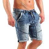 Urban Surface Herren 5-Pocket Jogg Jeans Shorts LUS-103 Dark Blue W29