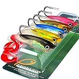 5pcs señuelos de pesca Set 10cm 14.7g silicona suave cebo artificial Cebos con Shank Hook