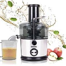 Duronic JE7C (Reacondicionado) Licuadora de 800W para frutas y verduras – 2 Velocidades – Boca Ancha 85 mm – Boquilla antigoteo – Jarra de 1L – Libre de BPA