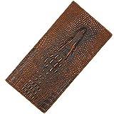 MDHYY Men WalletCrocodile Pattern Long Zipper Hombres Wallet Coin Purse