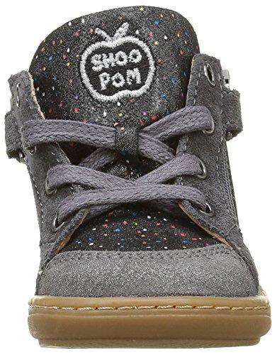 Shoo Pom Bouba Bi Z, Chaussures Premiers Pas Bébé Fille Gris (Jelly Metal Acier)