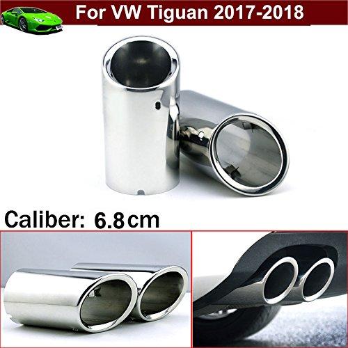 drohr Auspuff Schalldämpfer Endrohr Tipp Verlängerung Rohre Ende Rohre Silber Farbe Custom Fit ()
