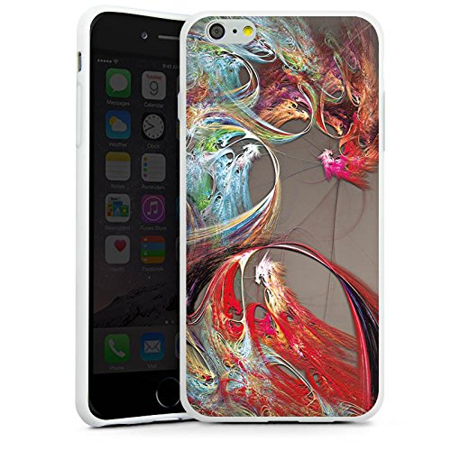 Apple iPhone X Silikon Hülle Case Schutzhülle Chinesisch Drache Muster Silikon Case weiß