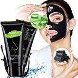 Masque Charbon Point Noir,Peel Off,Black Mask, Anti-Point Noir Masque, Blackhead Remover Dissolvant de tête Noire pour l'huile et l'acné for Oily,Nettoyant en Profondeur Rétrécir Pores