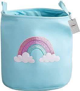 Kinder Jute Aufbewahrungskorb f/ür Baby Kleidung oder Schrank Organizer f/ür Spielzeug