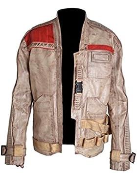 Classyak Hombre Wars Force alta calidad Real con una chaqueta de cuero